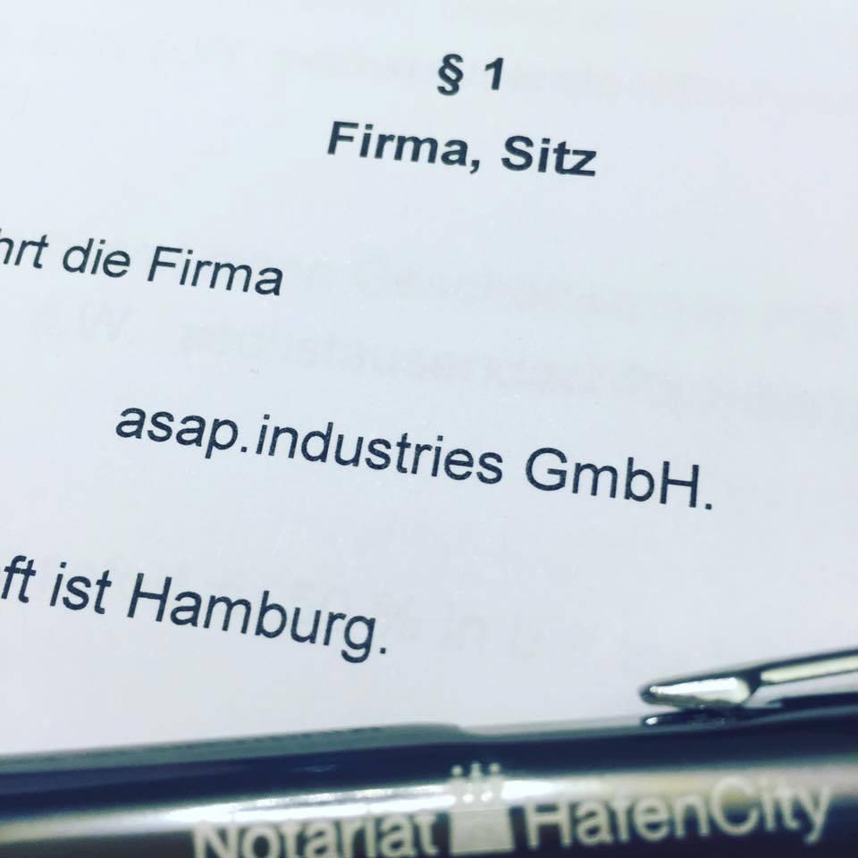 asap.industries GmbH Gründung
